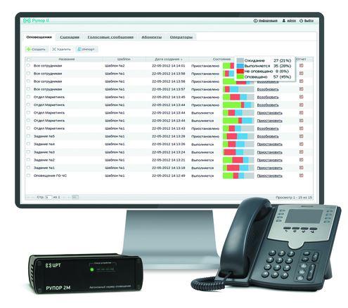 Базовое ПО программного комплекса автоматического оповещения и анкетирования STC-S9520 на 30 каналов с функцией статического TTS [STC-S9520]  - купить в Софтсервис24